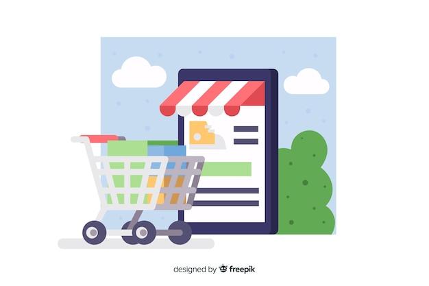 Интернет-магазин концепции для целевой страницы