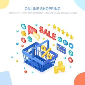 Иллюстрация концепции интернет-магазинов