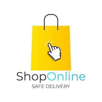 オンラインショッピングの概念。 webバナー、ウェブサイト、インフォグラフィック、印刷物のモダンなコンセプト。図