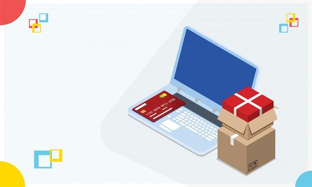 オンラインショッピングのコンセプト。