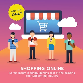 Online shopping consumer