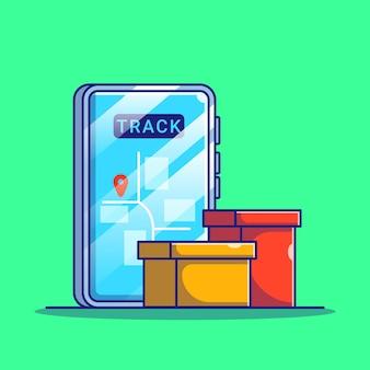 스마트 폰 모바일 앱으로 온라인 쇼핑 배송 추적