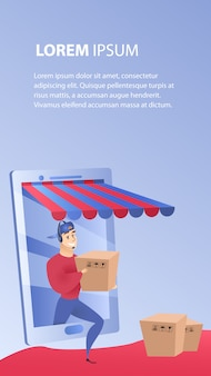 Online shopping delivery website element template