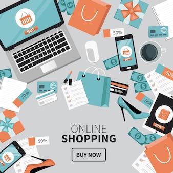 Online shopping desk