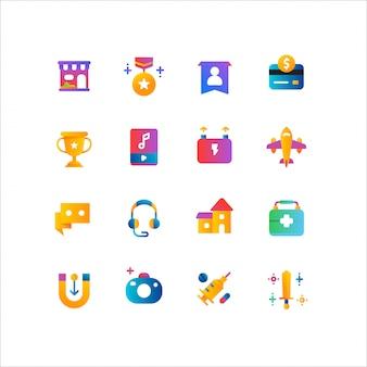 Интернет-магазин, набор иконок электронной коммерции