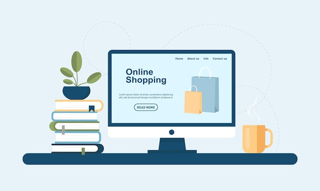 Online shopping ecommerce and digital marketing