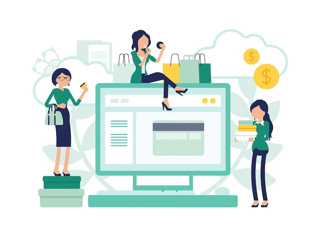 온라인 쇼핑 전자 상거래 및 여성 소비자