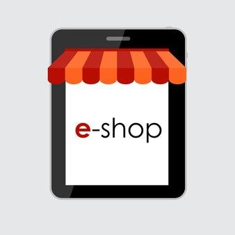 モバイルアプリのオンラインショッピングフラットコンセプト。 eps10