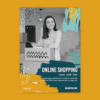 Online shopping flyer template