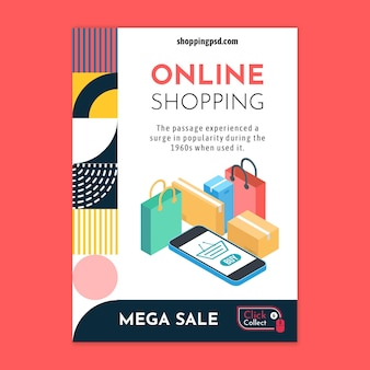 Online shopping flyer template