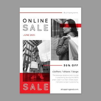 Modello di volantino per lo shopping online
