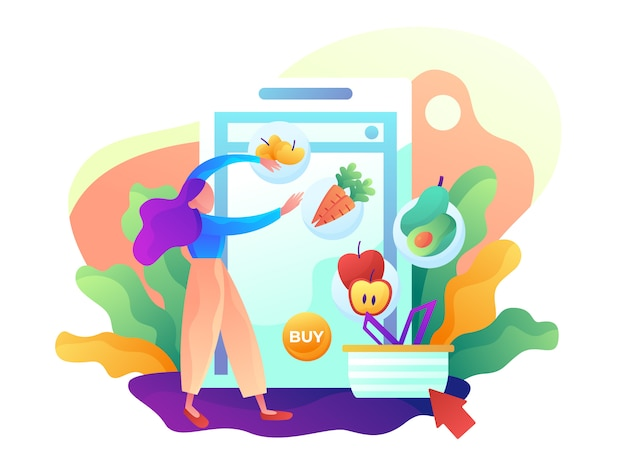 Online shopping grocery