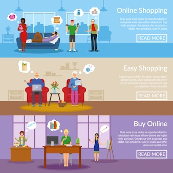Online shopping horizontal banners