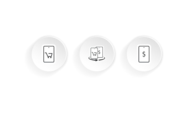 Online shopping icon. vector on isolated white background. eps 10.