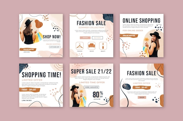 Online shopping instagram post collection
