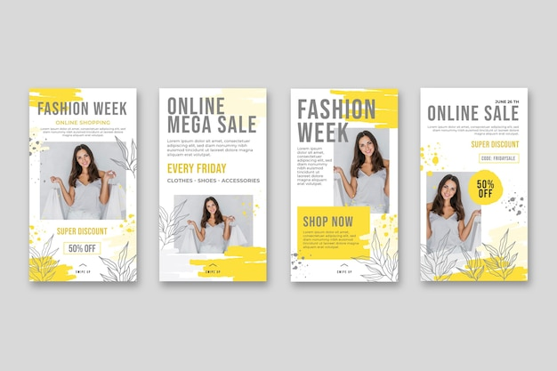 Online shopping instagram stories collection