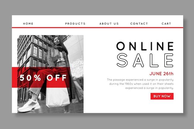 Modello di pagina di destinazione dello shopping online Vettore gratuito