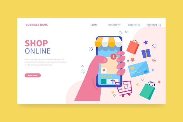 Online shopping landing page theme