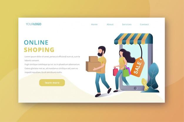 Online shopping landing page