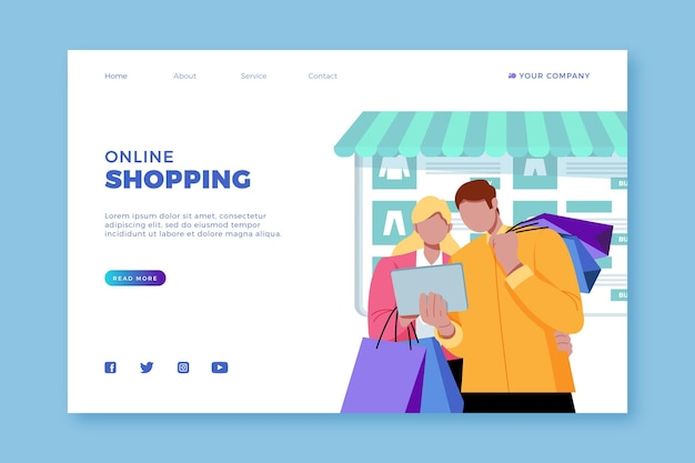 Online shopping - landing page
