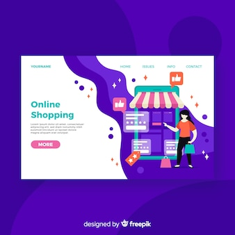 Online shopping landing page