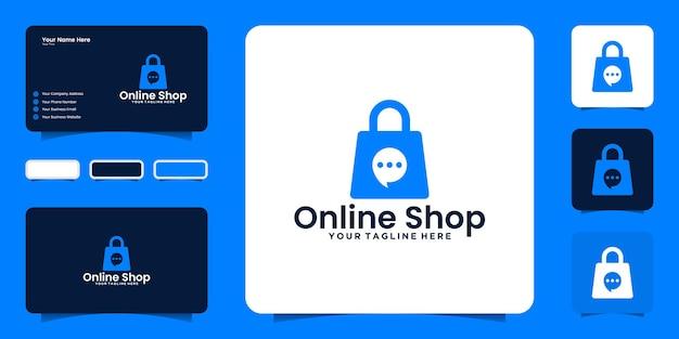 Вдохновение для дизайна логотипа интернет-магазина и вдохновения для визитки