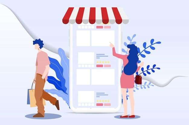 Online shopping for m-commerce.