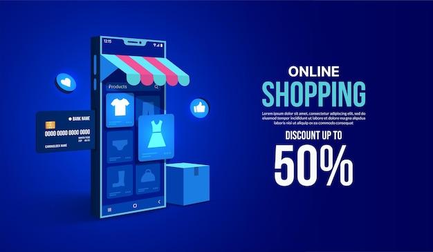 Интернет-магазины в мобильном приложении концепция интернет-магазина и магазина через смартфон