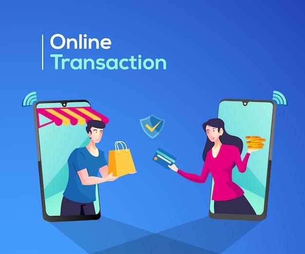 Покупки в интернете или обработка транзакций в интернете
