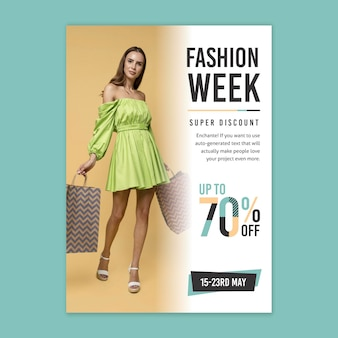 Online shopping poster template with photo