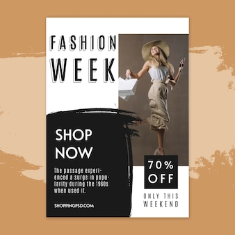 Online shopping poster template