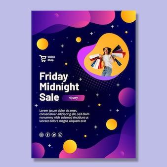 Modello di poster per lo shopping online