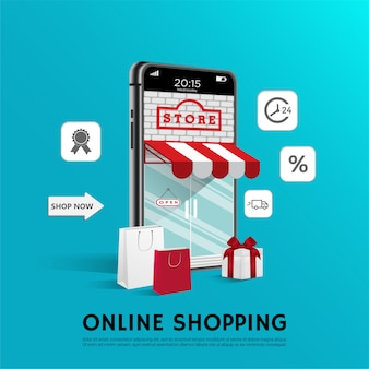 Online shopping poster