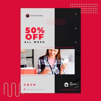 Online shopping poster