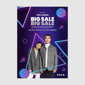 Poster dello shopping online