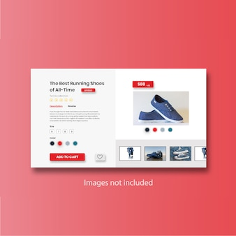Online shopping product selling page