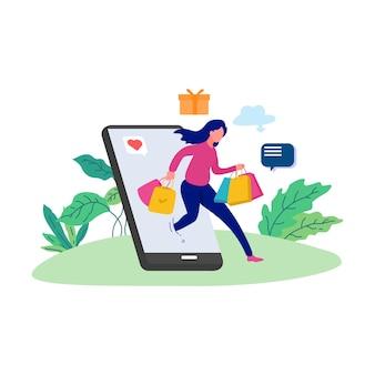 Интернет-магазин покупка коммерции женщина