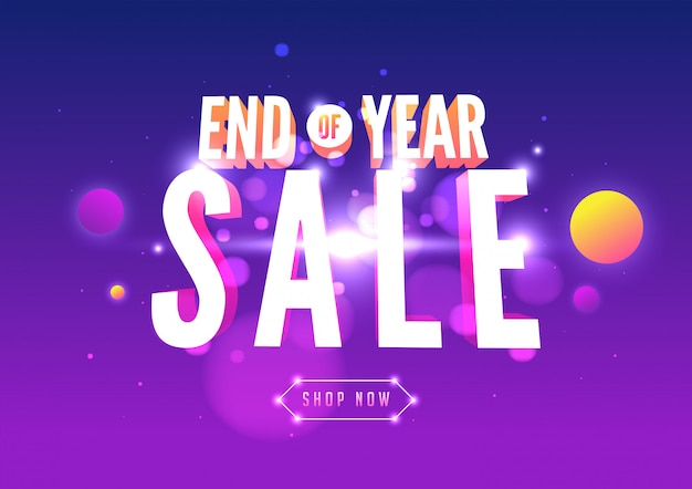 Online shopping sale banner template design. end of year sale banner