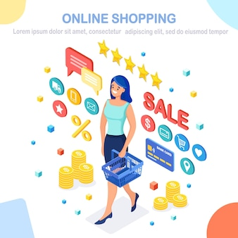 Online shopping , sale concept. buy in retail shop by internet.