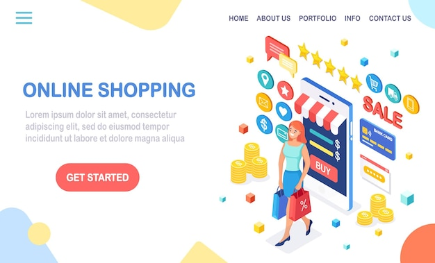 Online shopping sale concept buy in retail shop