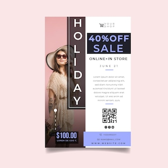 Online shopping and sales flyer template