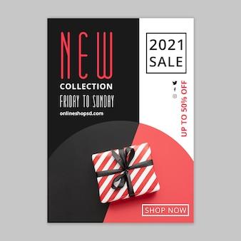 Modello di poster per lo shopping e le vendite online