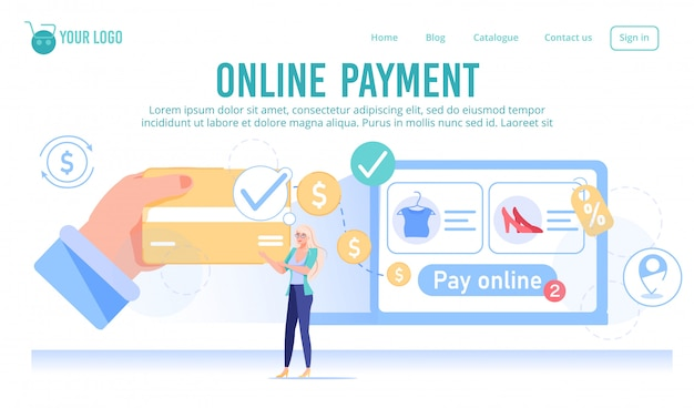 Online shopping service with cashless payment