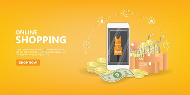 Интернет-магазины концепции веб-сайтов мобильных приложений социальных сетей.
