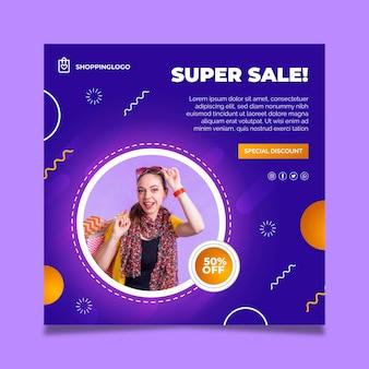 Volantino quadrato shopping online