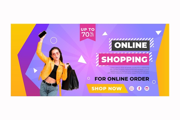 Online shopping template banner