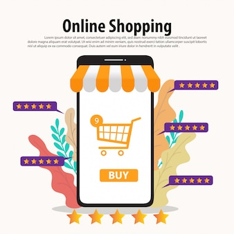 Online shopping template