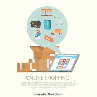 Modello di shopping online
