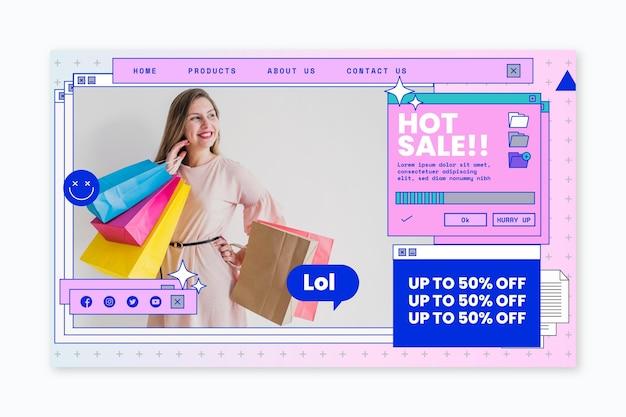 Modello web di tempo di acquisto online