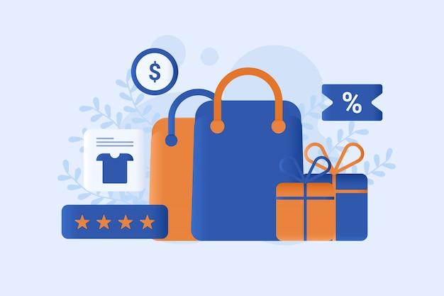 Online shopping vector illustration